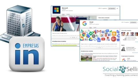 Paginas de Empresa en LinkedIn. Social Selling